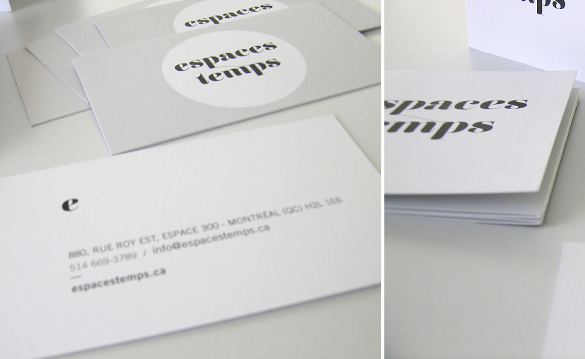 Espaces temps - papeterie - brochure